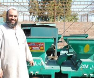Haji Malang, owner of Javid Thresher Company, based in Nangarhar province.