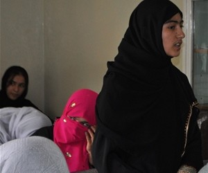 The Afghan Women Rehabilitation and Skills Development Association trains 40 women in English and computer skills in Taloqan.