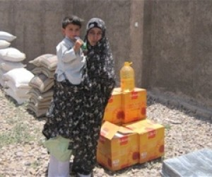 Families of 11 civilians killed when a minibus ran over an IED in December 2010, received USAID assistance.