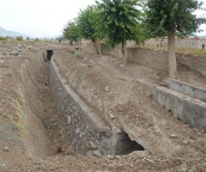 This canal near the village of Sperwan Ghar in Kandahar Province now delivers water to local farms. More than 1,800 laborers rem