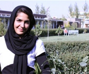 Mariam Jawad, student at the USAID funded American University of Afghanistan