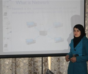 Ms. Sahar Dellawar, intern at the Afghan Ministry of Economy