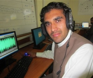 Khanwali is a reporter and producer for Radio Milli Paygham in Logar Province.