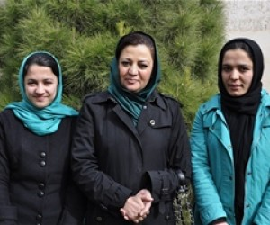 Sousan Hasanzada with Herat Prosecutor Maria Bashir and another Herat Provincial Council intern