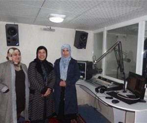 AFTER: Using the expertise of Internews' technical team, USAID supported the rebuilding of Radio Sahar. It was part of its commi