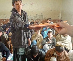 Young people were given training materials in the Pachier Agam district of Nangarhar province in eastern Afghanistan, where insu