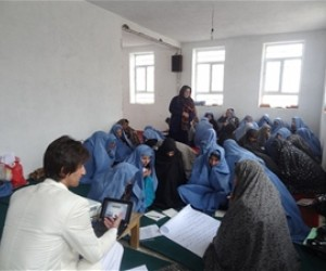 The women of Kushk Rabat-e Sangi district at the communications training course