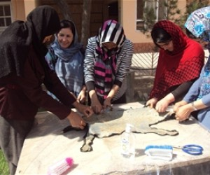 A livestock extension class in progress in Balkh province