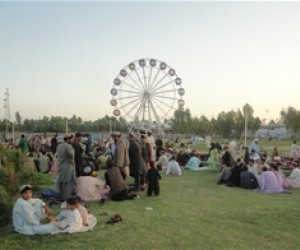 AFTER One year later, Ghazi Park is a transformed place and visitors throng its lush green surroundings.