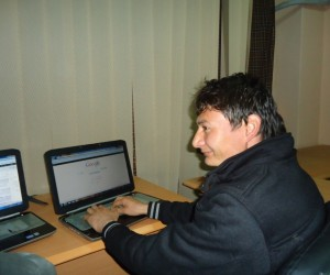 Safdar Ali at the Anaar Multimedia Center