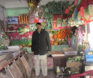 Ahmad extended his artificial flowers business and also started embroidery business