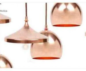 Copper pendant and dome chandeliers made in Bosnia and Herzegovina, now on sale in NYC boutique.