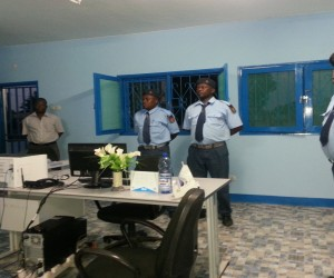 Uniformed Customs Officials at the Entre Lagos border in Niassa Province