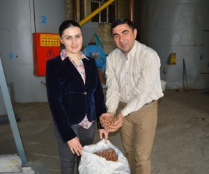 Young Azerbaijani family modernizes hazelnut factory with USAID support