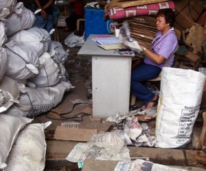 Josefina De Leon pores over the evidence following a warehouse raid and inventory of confiscated marine products in Zamboanga Ci