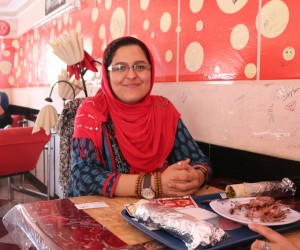 Frequent diner Ms. Hayda Gulzar comes to Chipsi to meet friends and enjoy tasty meals served by well-trained staff.