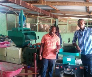 Mandela Washington Fellows James Mulbah and Fombah Kanneh at the Green Center in Liberia.