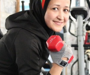 Masuma working out at her Alzahra Fitness Sports Club