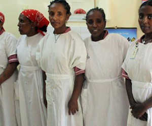 Nurse aids who work at Hamlin Fistula Center in Bahir Dar, Ethiopia.