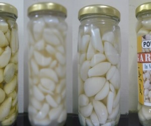 The metamorphosis of Gift Food's pickled garlic right through to the final product with its bright label