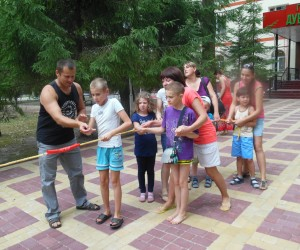 Classes at the summer camp for children with special needs, organized by parents' NGOs  Rozvytok and Zolotyi Kliuchyk