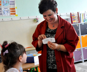 A Kosovo teacher trains her colleagues to make their teaching more effective