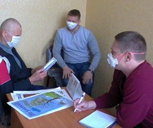 Voluntary counseling and testing room for HIV in the Melitopol TB dispensary