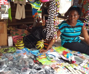 Wanday Bangura with her wares