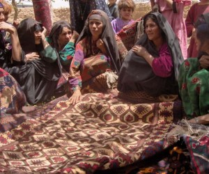 Widows in the Adraskan District of western Afghanistan voted to form an association to produce and market traditional wool carpe