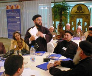 Muslim and Christian religious leaders discussed ways to appeal to their respective communities on HIV/AIDS awareness.