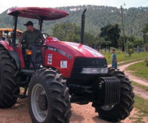 USAID provided a brand new tractor and other agricultural equipment such as a plow to prepare the land, and a planter for a vari