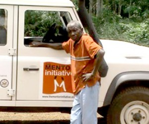 Isaac Tengbeh is 75 years old and actively involved in malaria prevention in Liberia.