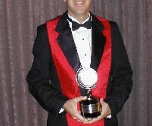 Image of USAID's Andrew Liberman received the Microsoft Education award in 2004.