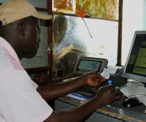 Mobile-based system provides Kenyan farmers with an automated milk-weighing and receipt solution at the farm.