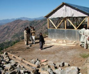 The boys' school in Bees Bagla, a village in Pakistani-administered Kashmir, was reduced to rubble by the October 2005 earthquak
