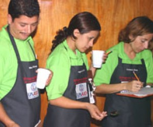 Ingrid Cornejo and fellow graduates demonstrate their skills as junior cuppers
