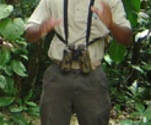 Michael Castro, a guide at the El Achiote birdwatching site.
