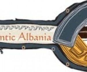 Authentic Albania key-shaped logo