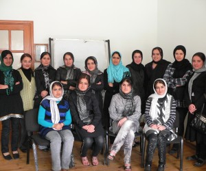 These 14 women are among the 60 Afghans furthering their educations in neighbor Tajikistan.