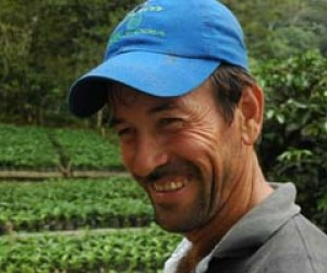 Juan Avendao is now growing lucrative organic coffee for export on land that was once used to grow coca.