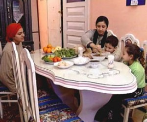 In this scene from a USAID-funded video in Egypt, a homemaker teaches her neighbor how to protect her family from lead exposure