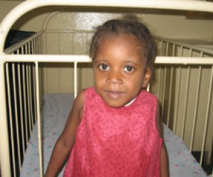Five-year old Naomi Jean is being treated for tuberculosis.