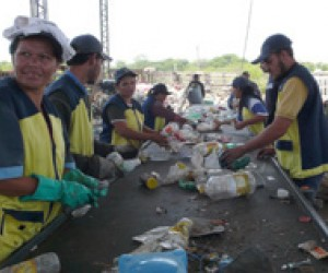 """Gancheros"" outside of Asuncion separate recyclables at the sorting center located next to the landfill."