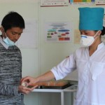 Patient Hakmiddin receives direct observation tuberculosis treatment