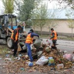 Streets of Bazar-Korgon village are now clean thanks to the new municipal garbage collection service