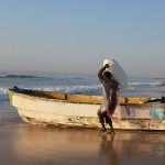 Fishermen hauling ice onto their boats in Puntland, Somalia