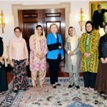 The Afghan delegation meets with Secretary of State Hillary Clinton (center) and Ambassador-at-Large for Global Women's Issues M