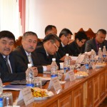 Members of the Council of Judges discuss funding for reform of the Kyrgyz judicial system.
