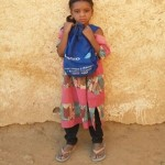 Fatouma Walet Rhissa is proud to wear her first backpack
