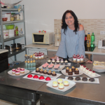 Silvana Vidović with goods she baked in her kitchen in Livno, Bosnia and Herzegovina.